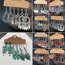 Fashion Boho Gypsy Earrings Set Tribal Ethnic Ear Hook Drop Dangle Jewelry Gift