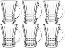 LAV Venus Set of 6 Clear Tea Coffee Cappuccino Latte Glasses Mug Hot Drink Cups