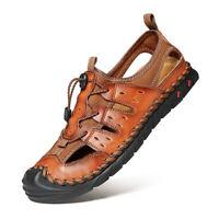 Summer Men's Slingbacks Beach Sandals Shoes Closed Toe Sports Walking Running