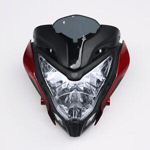 Fit For Bajaj Pulsar 150 200 Motorcycle HeadLight Assembly Headlamp+Fairing Red