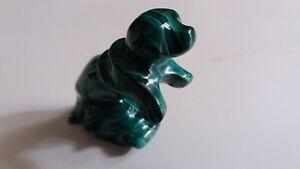 Malachit Steine Seehund