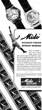 Mido Multifort Superautomatic Watch BASEBALL Accurate Timing 1946 Print Ad