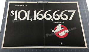 GHOSTBUSTERS__Original 1984 Trade AD promo / poster__First 32 Days__BILL MURRAY