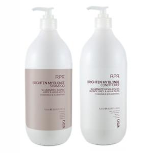 RPR Brighten My Blonde Shampoo & Conditioner 1000ml Cruelty - Paraben Free