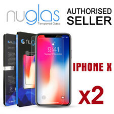2x Apple iPhone X XS Screen Protector Tempered Glass - Genuine Nuglas