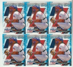"""(6) Ivan Rodriguez 2021 TOPPS OPENING DAY """"OUTSTANDING OPENING DAY"""" LOT #OOD-1"""