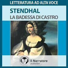 Audiolibro audiobook cd MP3  LA BADESSA DI CASTRO - Stendhal / usato