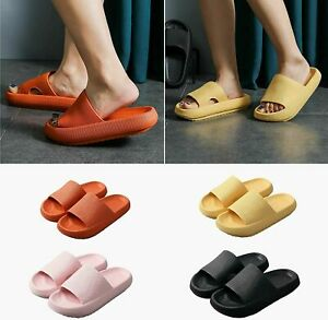 Pillow Slides Hole Shoes Anti-Slip Sandals Ultra Soft Slippers Cloud Shower Home