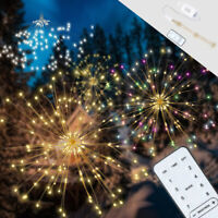 Twinkle Starburst Home Outdoor Firework Light 180LED Fairy String 8 Modes+Remote