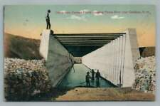 Pecos River Cement Flume CARLSBAD New Mexico~Rare Antique Irrigation PCK 1910s