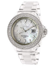TOY WATCH Clear White Mother of Pearl Dial Quartz 40 mm Watch 1013WHP