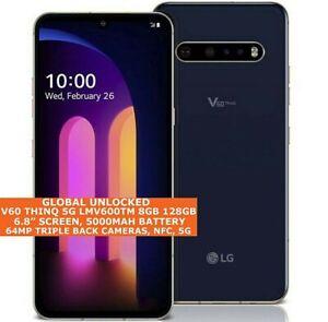 "LG V60 THINQ 5G LMV600TM 8gb 128gb Octa-Core 6.8"" Fingerprint Id Android 10 NFC"