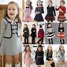 Toddler Kids Girl Winter Skater Dress Long Sleeve Party Mini Dress Skirt Clothes