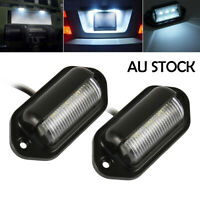 6 LED License Number Plate Light Lamps for Truck SUV Trailer Lorry 12/24V 00