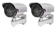 2x Tas Caméra de Sécurité avec LED et Solar Dummy Ccd Camera Extérieur