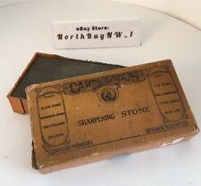 *VINTAGE* CARBORUNDUM #118 - SMALL - ORIGINAL BOX - Razor Hone Sharpening Stone