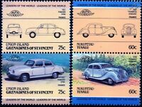 PANHARD Collection of 4 Car Stamps (Auto 100 / Leaders of the World)