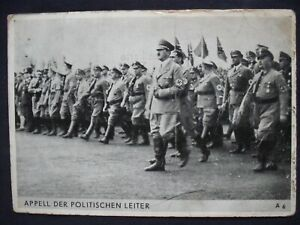 "GERMAN 3rd REICH PC. HITLER & OTHERS. ""APPEAL FROM POLITICAL LEADERS."" SENT 1935"