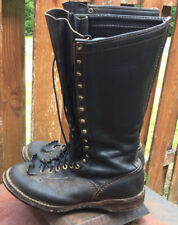 Vintage $450 WESCO Spiked Logging Boots 10E USA Made Highliner 14 Inch Tall