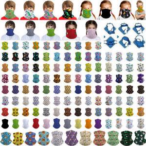 Kids Children Neck Gaiter Bandana Face Mask Cover Tube Scarf Balaclava Headband