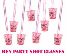 Pink Shot Glasses Hen Night Party With Necklace 84cm 12