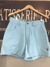 Horny Toad Stretch Cotton Casual Active Shorts Pocket Light Teal Size 2