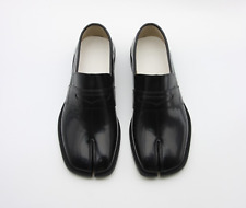 Handmade] Mens Leather Tabi Loafer Slip On Shoes Penny Split Toe