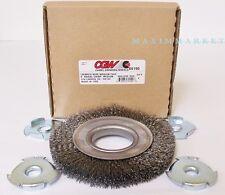 6 inch Heavy Duty Crimped Wire Wheel Brush Fast Cut - Medium 0.14 Carbon
