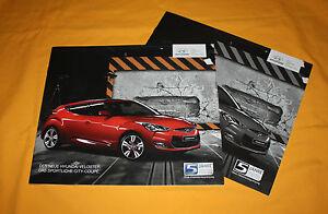 Hyundai Veloster 2012 Prospekt Brochure Depliant Prospetto Catalog Folder