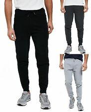 Threadbare New Mens Fleece Joggers Black Grey Charcoal Tracksuit Jogging Bottoms