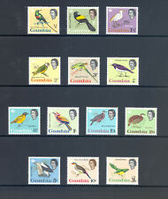 More details for gambia sg 193-205 1963 q e ii definitive bird set. mnh