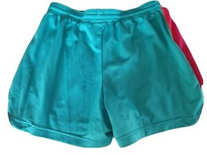 Women's medium  Nike Dri-fit turquoise blue pink running shorts pre-owned