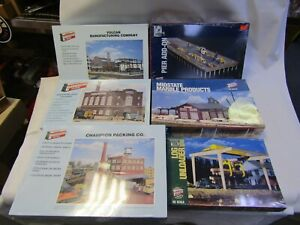 WALTHERS HO BUILDING KITS 6 KITS 933-3146,3154,3973,3045,3021,3048 NIB