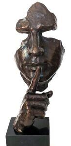Bronze Büste, Nachguss in Anlehnung an Künstler Dali, Signatur Milo