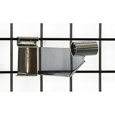 Grid hangrail bracket 1-1/16 Inches in Chrome - Count of 25