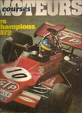 MOTEURS 98 1972 JAGUAR XJ12 CANAM GP ITALIE CANADA USA TOUR DE CORSE FORMULE 1