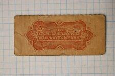 Cleveland OH Street Railroad Co Train Trolley car transit Ticket stub Fare 1890s