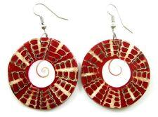 STUNNING CONE SHELL & SHIVA EYE BEADS earrings ;EA037
