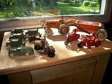 antique hubley and arcade lot of motorcycles  crawler and others