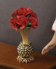VASE OF  CABBAGE  ROSES  for  BARBIE  ~ Patsy Mac ~ 1:6 scale ~ Action Figure