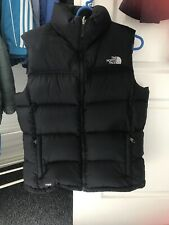 Womens Black The North Face Gilet 700 Size Large or 12/14