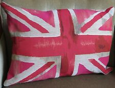 Kissenhülle des Union Jacks a. Gobelin in Pink