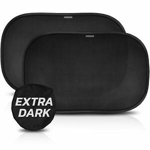 Sonnenschutz Auto Baby UV Schutz - 2 Stück selbsthaftende Sonnenblende Schwarz