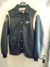 VINTAGE 70'S REDSKINS LEATHER ALL STARS BASEBALL JACKET SIZE XL