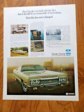 1973 Chrysler Newport Sedan Ad  An Automobile of Innovations