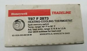 Vintage Tradeline HONEYWELL Heating-Cooling Low Voltage Thermostat T87F 2873 NOS