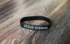 Jesus Strong Writstband Black & White Bracelet / i am second