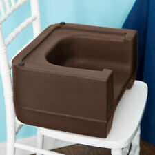 (ONE) BROWN CAMBRO HEAVY DUTY RESTAURANT CHILD BOOSTER SEAT DUAL HEIGHT/USA MADE