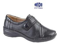 b92d5eb619 Boulevard XXX Wide Fit Touch Fastening Bar Slip on Shoes Ladies UK 6   EU 39