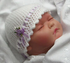 EASY CROCHET PATTERN/INSTRUCTION LEAFLET FOR PRETTY BABY BEANIE HAT ref.6B